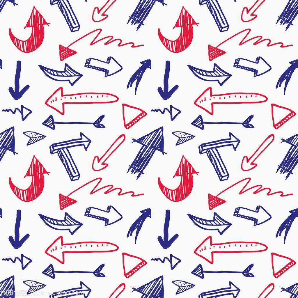 艺术绘制的手工标志画廊字体箭头v艺术图片
