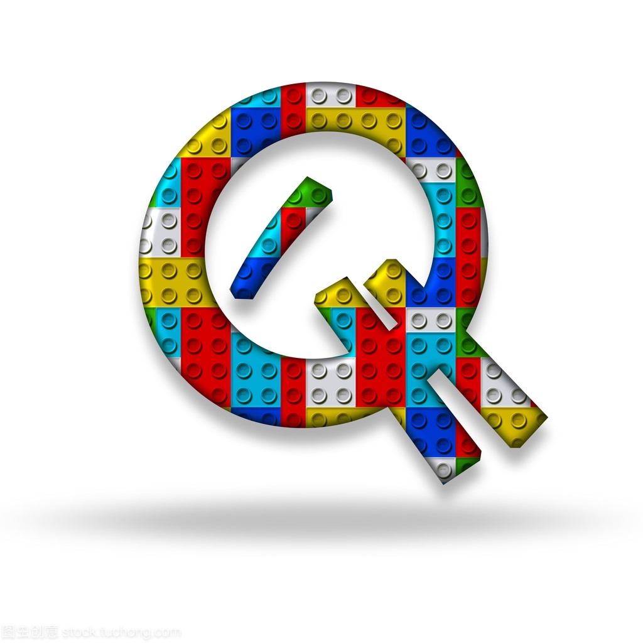 字母Q块设计器游戏视频手弓图片
