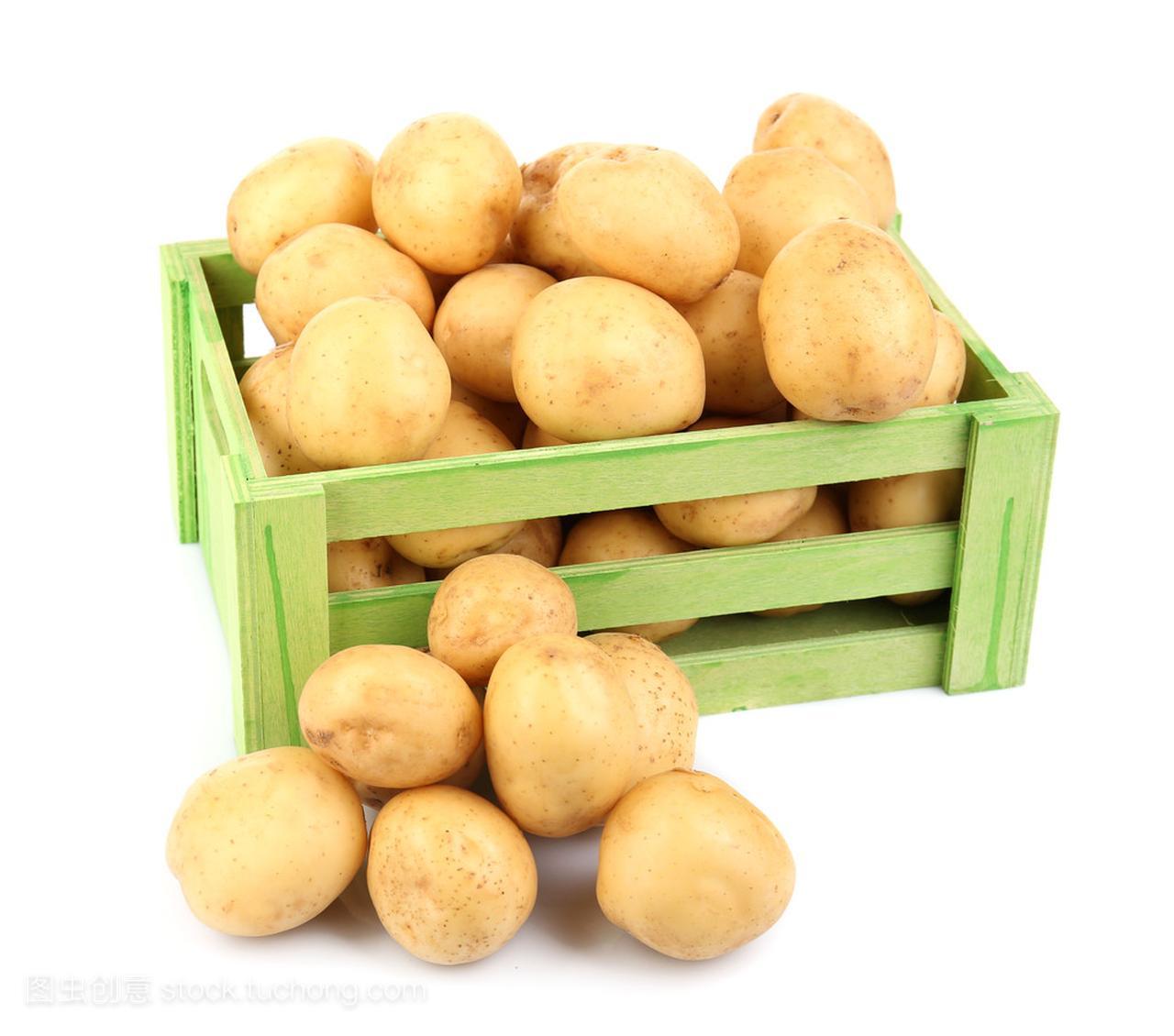 在木桌上丸子孤立新土豆短头发白色头扎好看吗图片