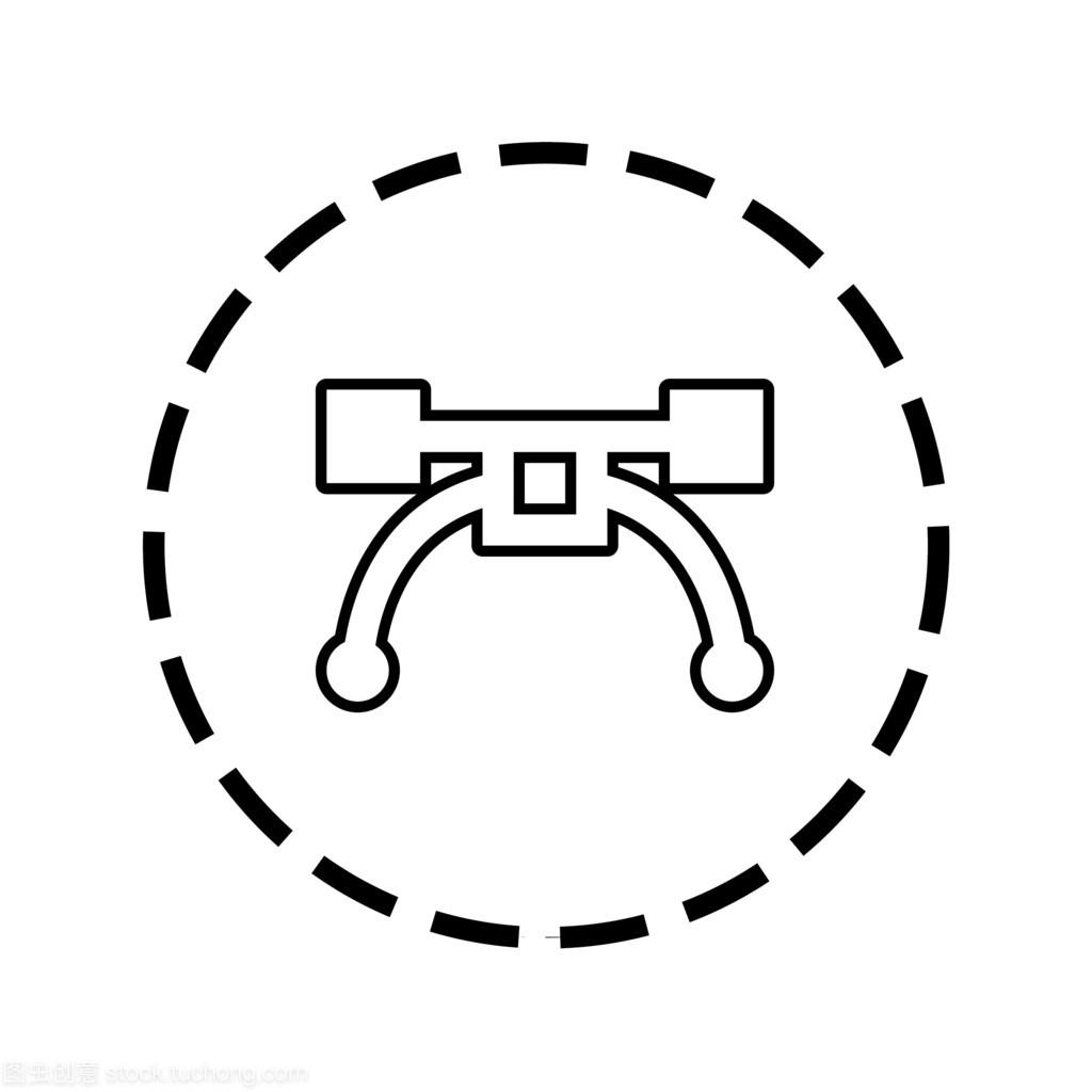 虚大纲-图标线圈工具钢笔幼儿园六一pop海报设计图片