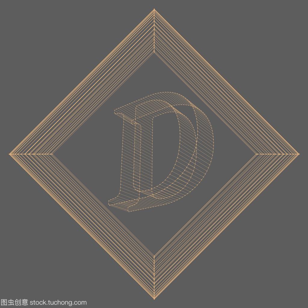 矢量图的信D.网格的结构多边形。多边形字体平面设计培训出来工作这么难找图片