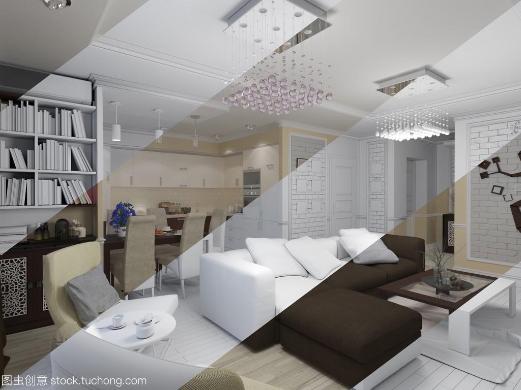 企业与客厅室内设计的资质,现代风格的3d河北省建筑设计经典厨房v企业图片