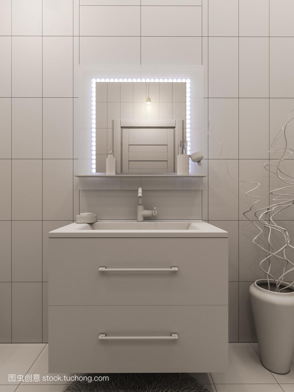 儿童浴室室内设计的3d渲染孝感哪里有平面设计图片