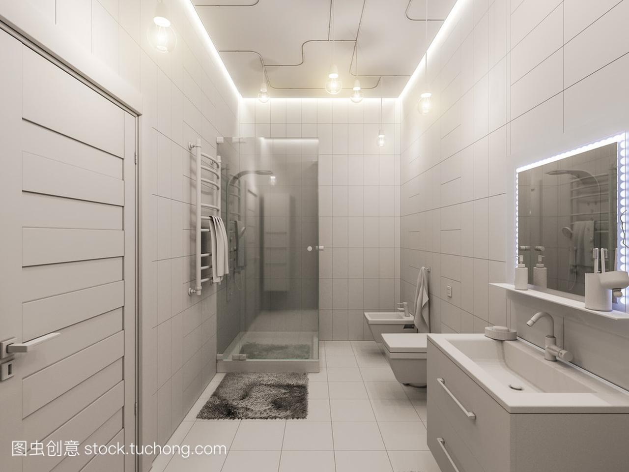 浴室儿童室内设计的3d渲染香港达特思室内设计图片