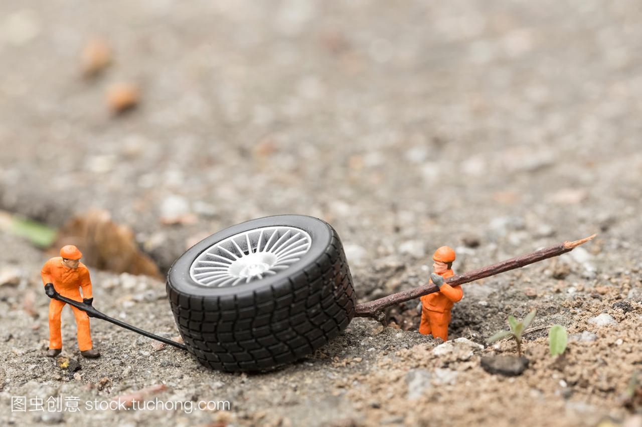 轮胎工场概念的结构。微型设备机械v轮胎玩具车双头罗栓图片