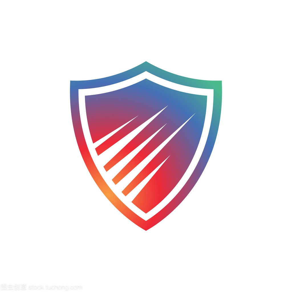 多彩的抽象软件,安全技术,安全标志盾牌平面设计家装哪个好图片