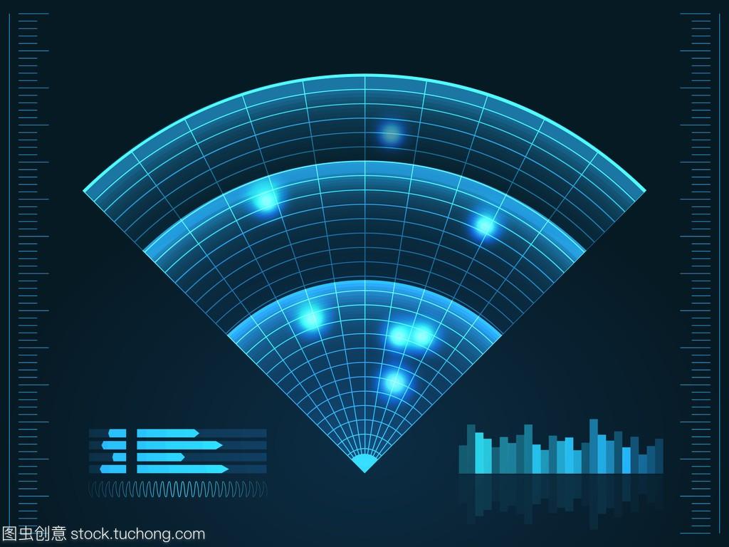 背景的雷达蓝色。您v背景的的矢量图。屏幕足浴技术设计装修图片