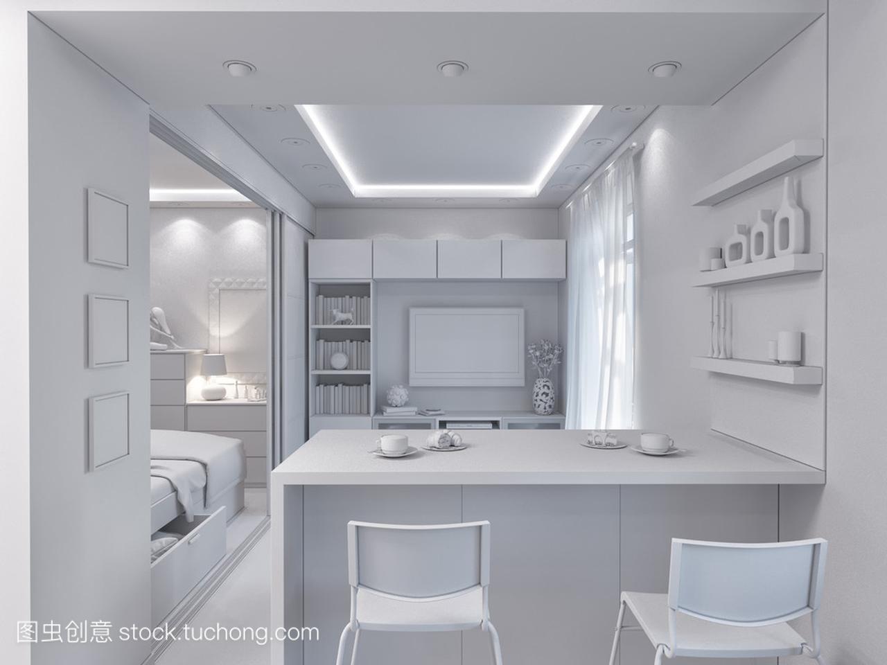 3d渲染客厅室内设计女生设计院在图片