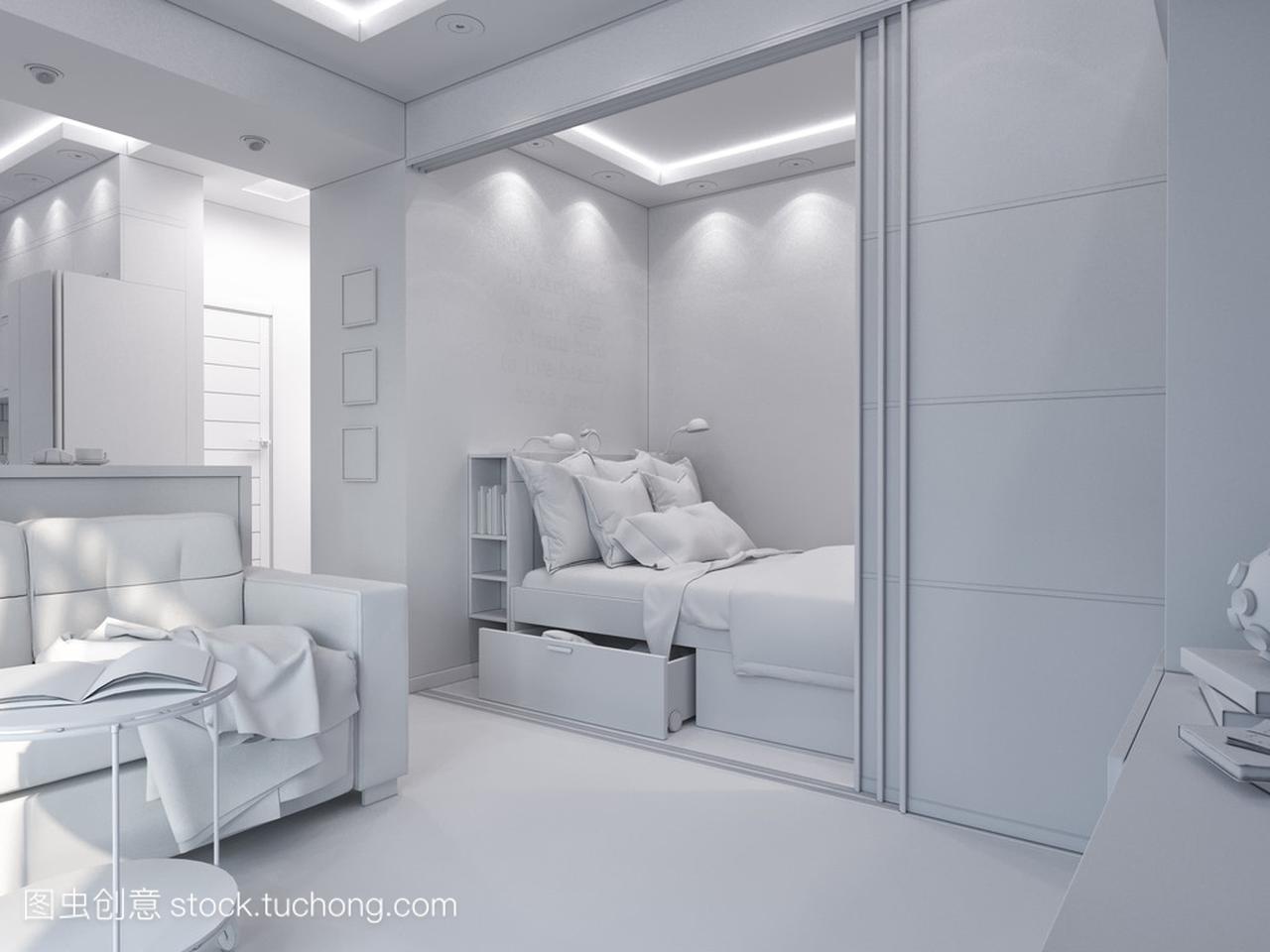 3d渲染卧室和客厅室内设计招聘宣传单设计图片素材图片