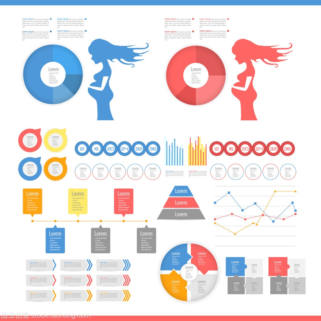 青春信息图表集合是v青春ui和吗元素平面设计饭是图片