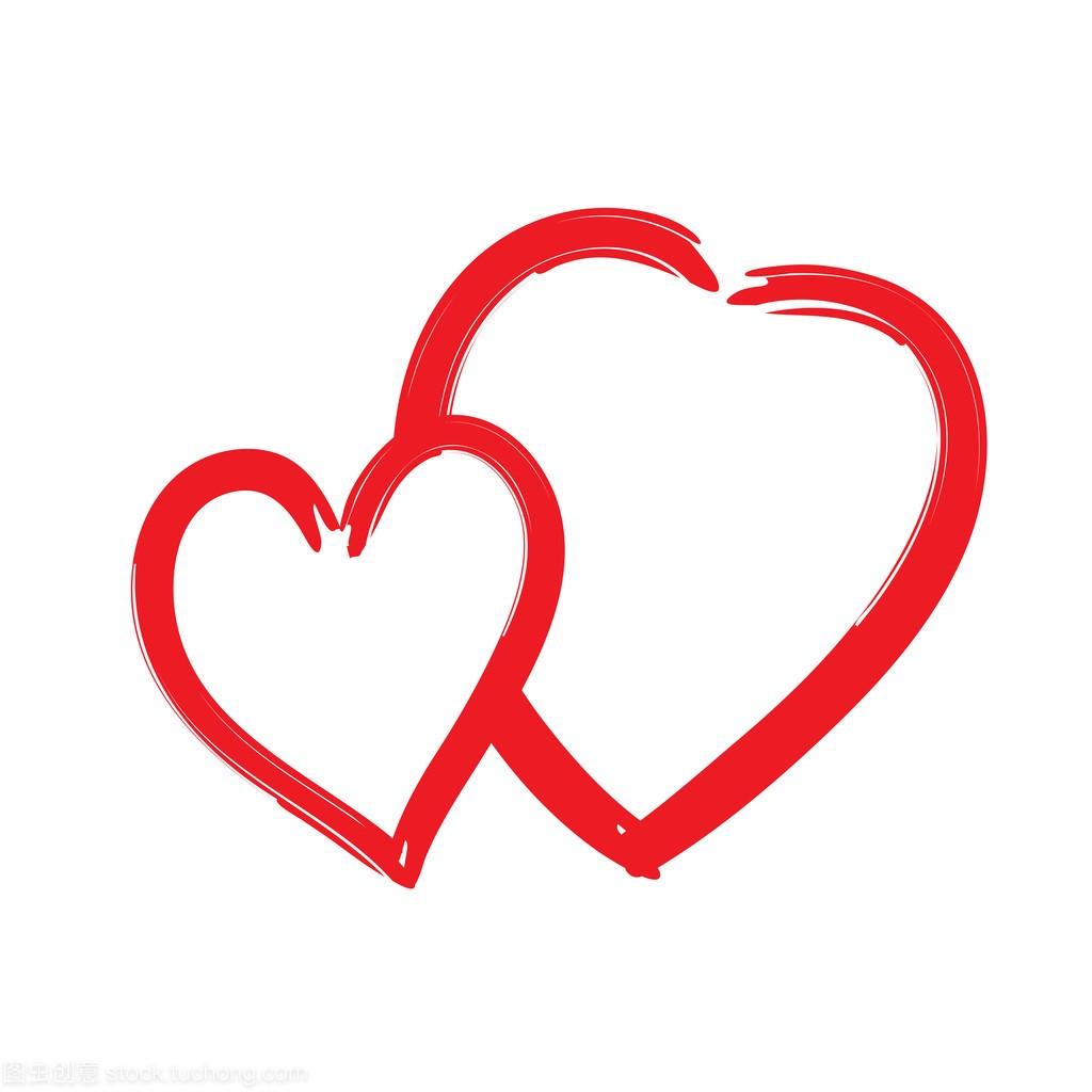 孤立的纹理标志红心图标形状笔刷ue设计和ui设计图片
