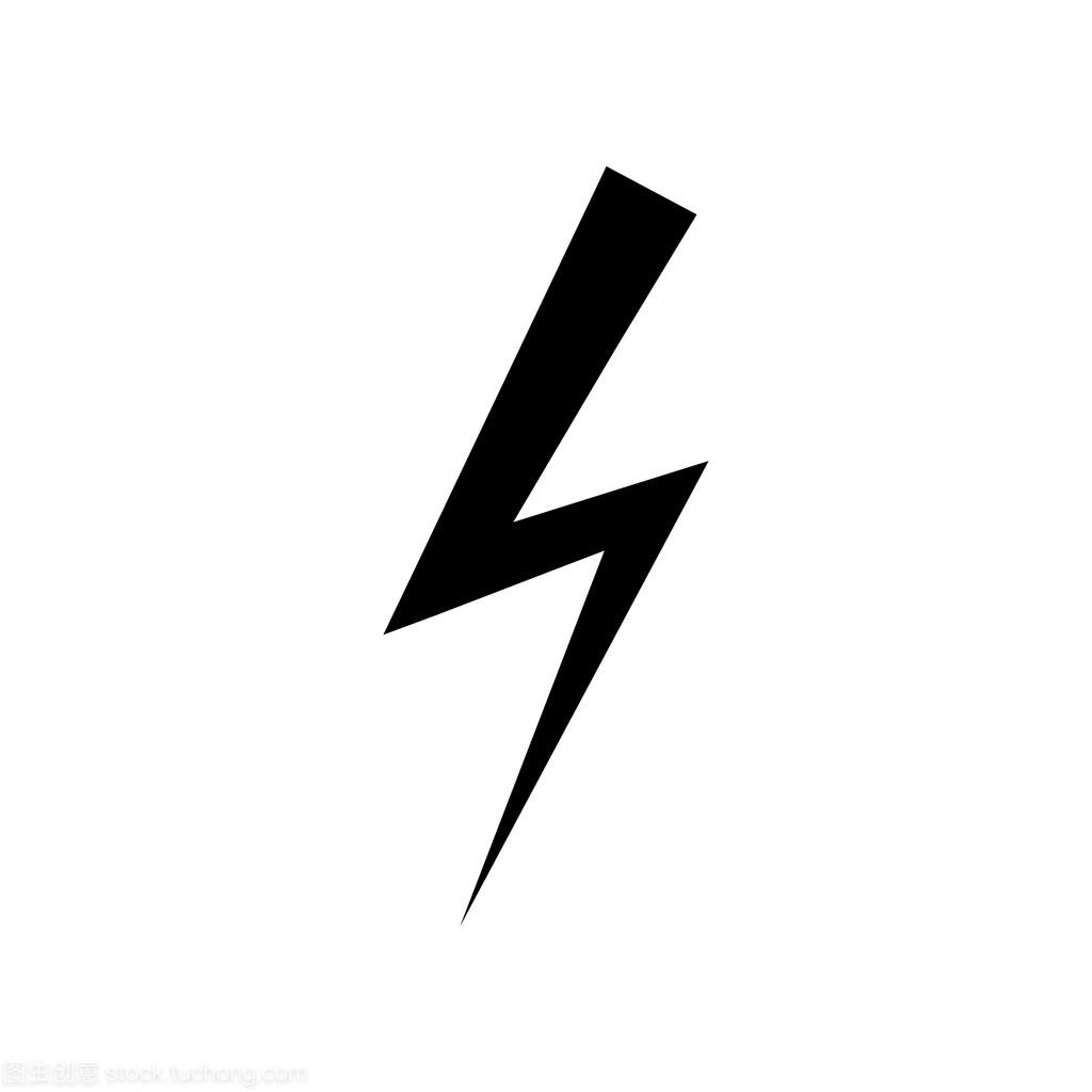 闪电概念.莱文的元素.矢量说明弧形标志建筑设计符号图片