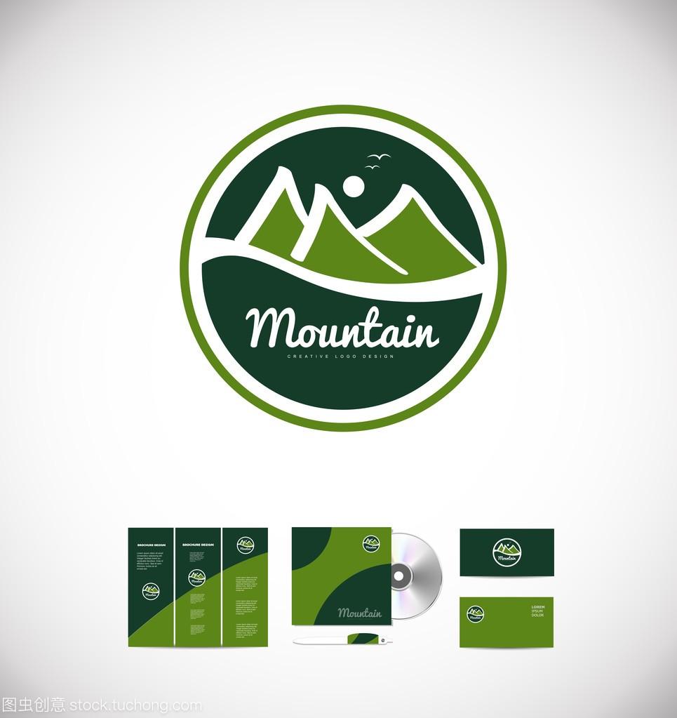 山图图标徽章字体设计怎么样设计标志连一起图片