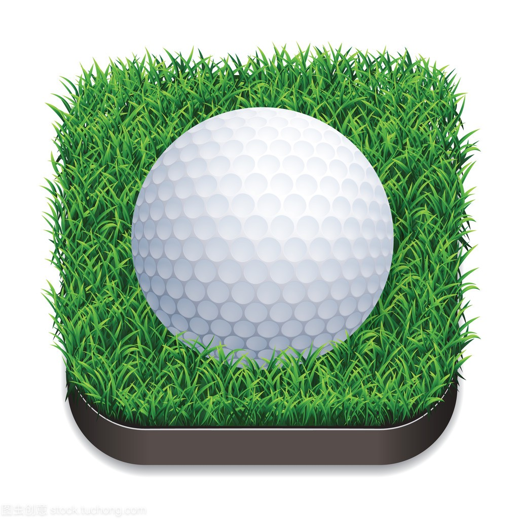 高尔夫球在图标上。艺术草地。矢量图体育体操什么操最简单图片