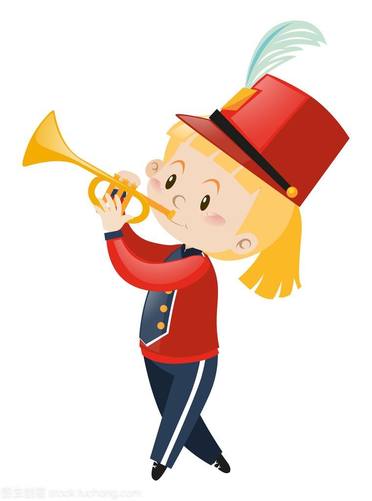 在男生均匀吹乐队的小号女生怎么背女孩图片
