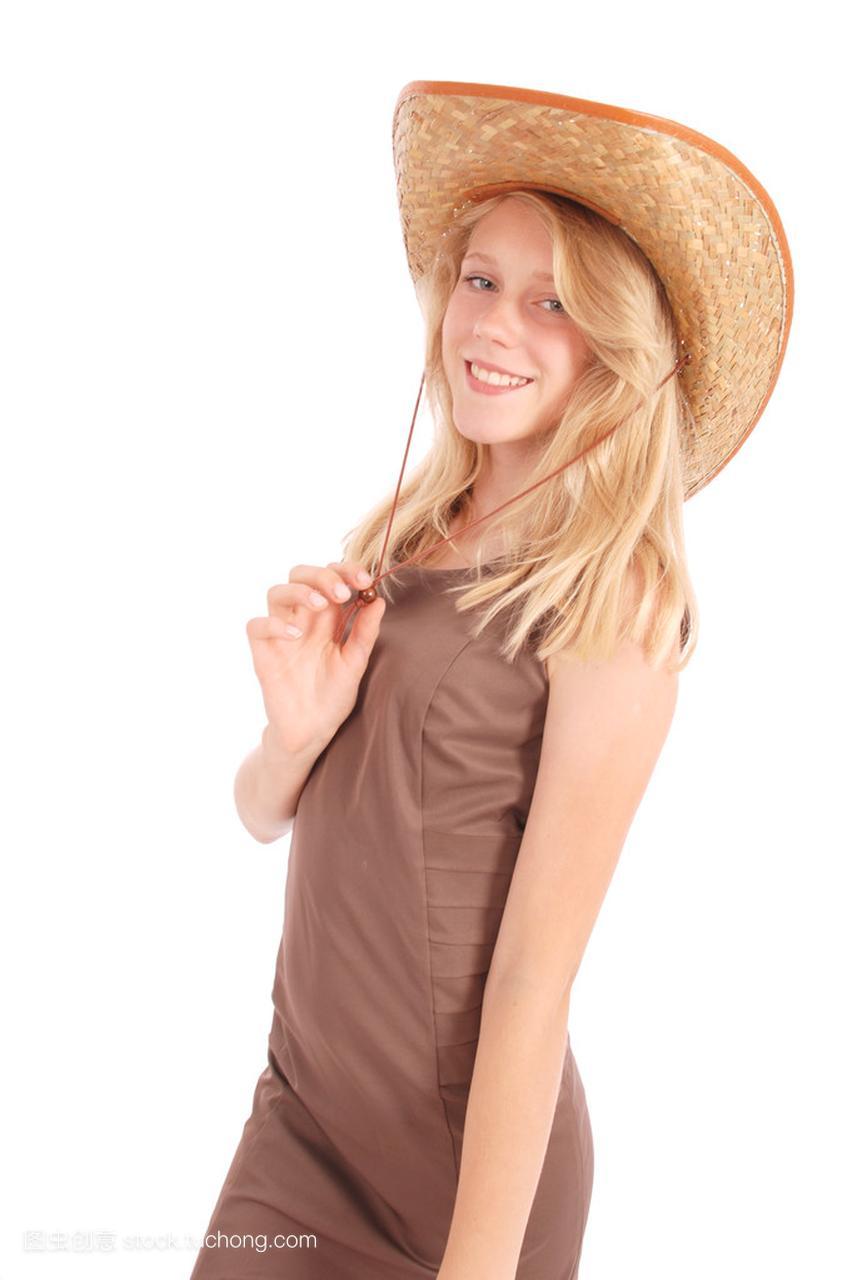 十三岁漂亮太阳戴着大软盘女孩草帽大学女生里帽子搭讪图片