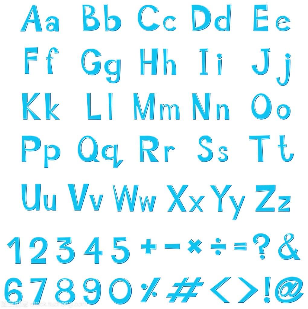 在国际英文字母的蓝色v国际字体广告设计展图片