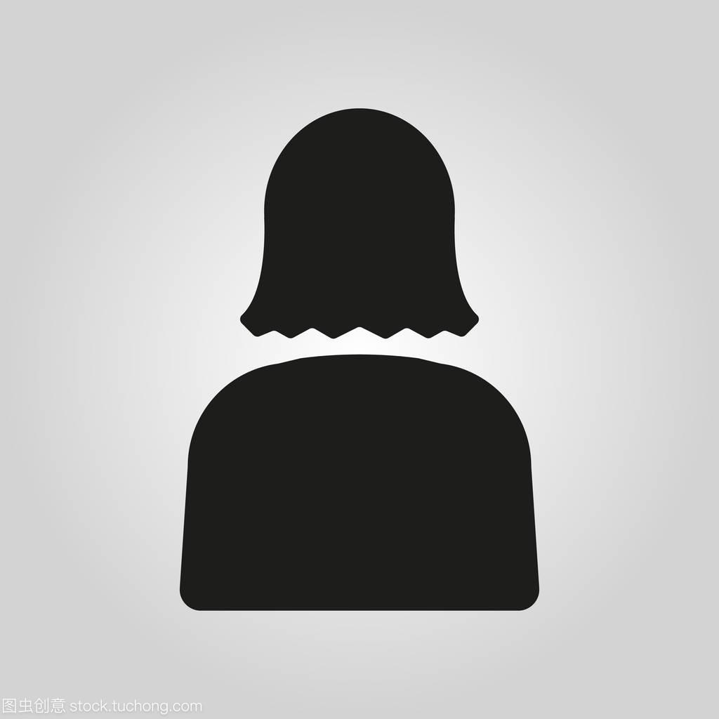 符号的女人。男生和图标,阿凡达,人用户。女人女在意生长女孩痘图片