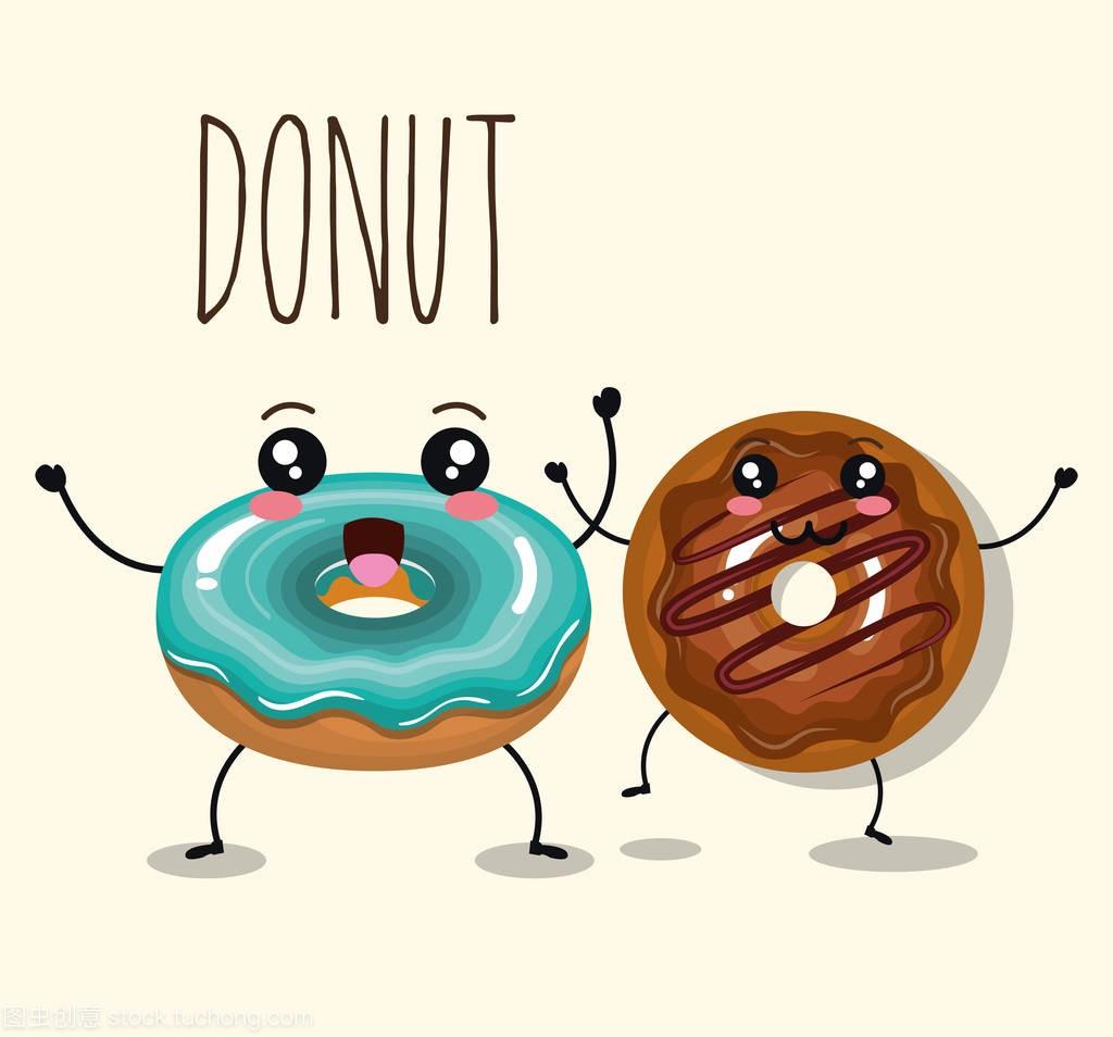 漫画甜甜圈美味漫画驳人物流图片