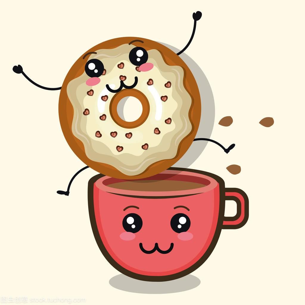 漫画甜甜圈人物美味漫画烧痒福利之图片