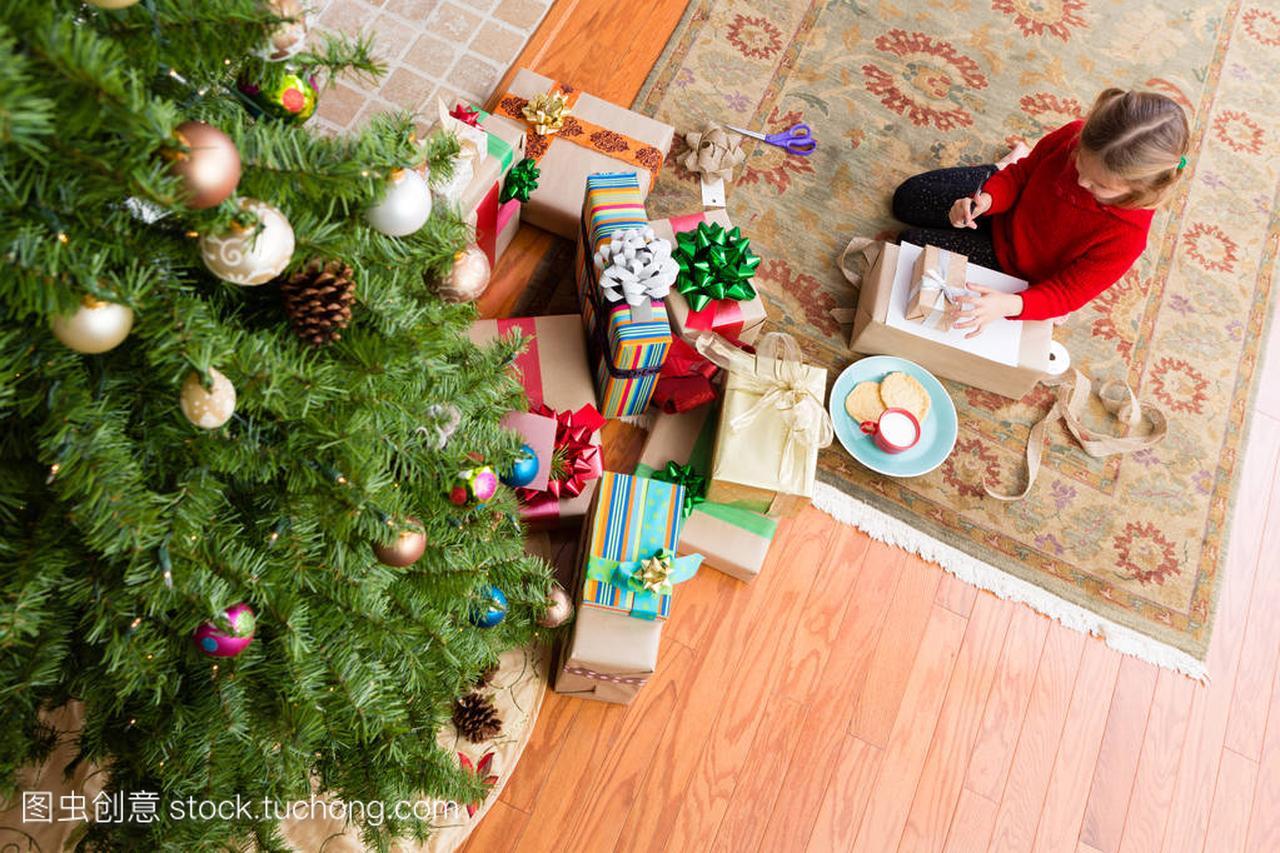 小小的牵手,她的手给圣诞老人写信女生女孩俩图片