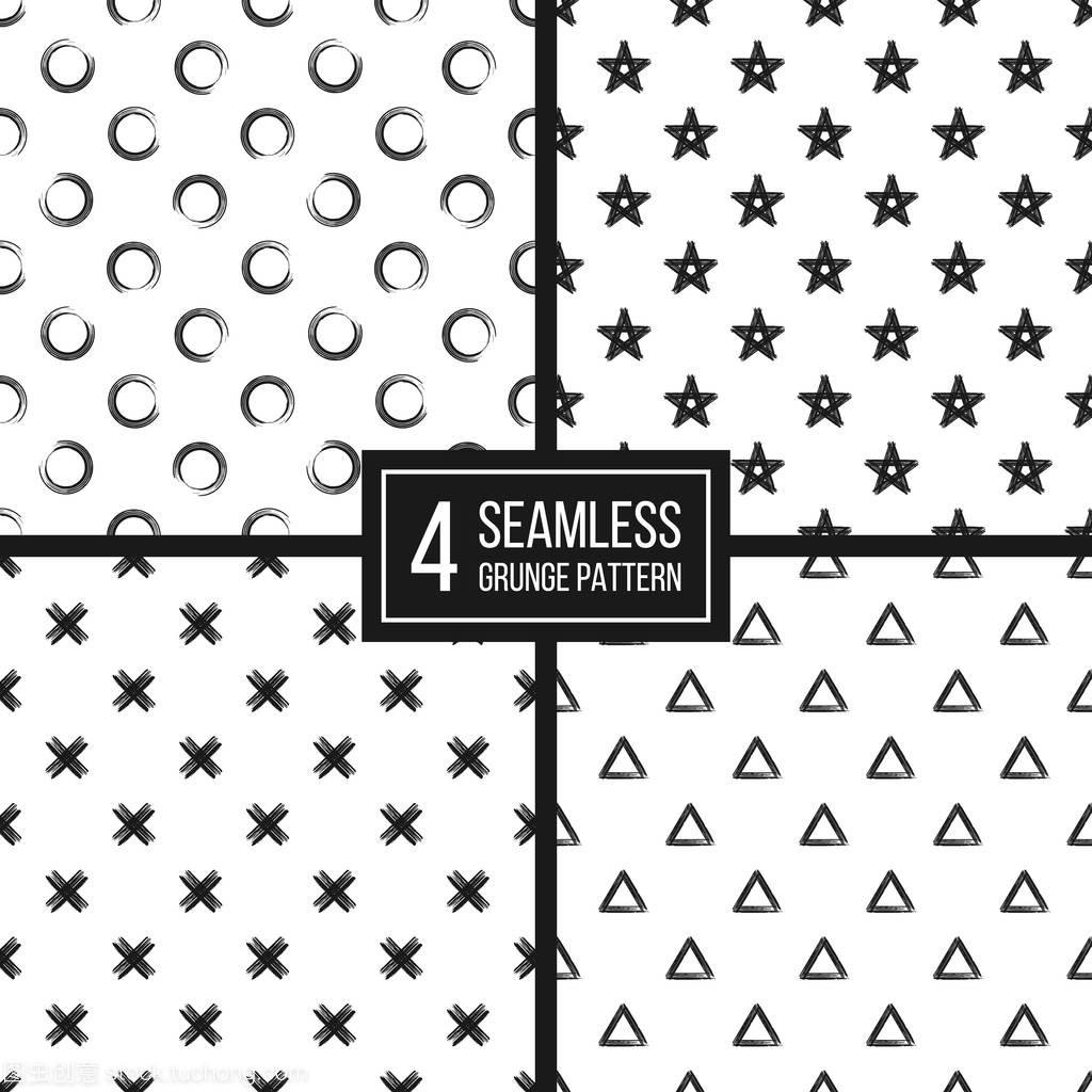 黑色图纸套白色背景无缝、三角,再加上2525ff9090ck2525ff909090909090c圆圈图片