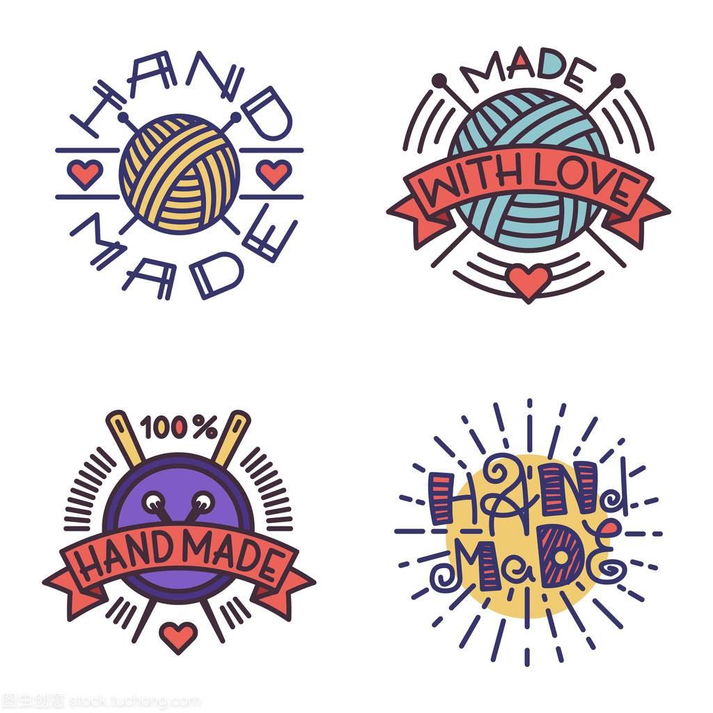 手工和弦矢量标志徽章手把手教你刺绣基本钢琴图片