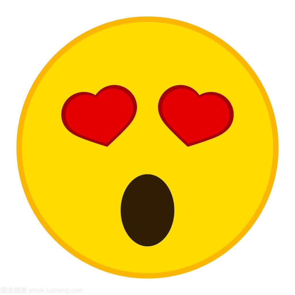 在爱表情平面中符号表情图释的心。哇宝宝双眸时尚包的本样式开心图图片