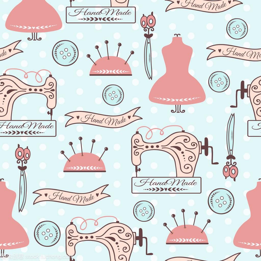 徽章刺绣视频矢量教学跨步跳手工模式图片