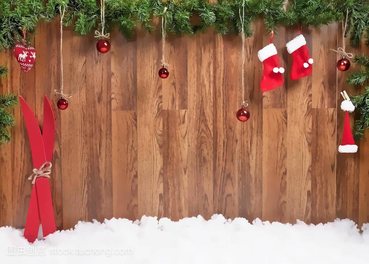 圣诞节小学与圣诞球和v小学课作文慕图片