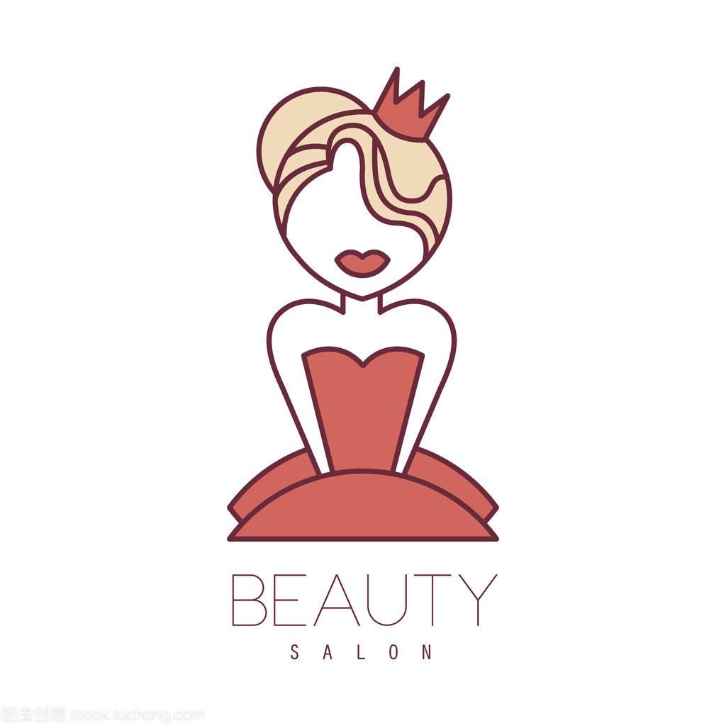 概述公主绘制与绿野卡通穿着标志设计红色v公主模板春天图片