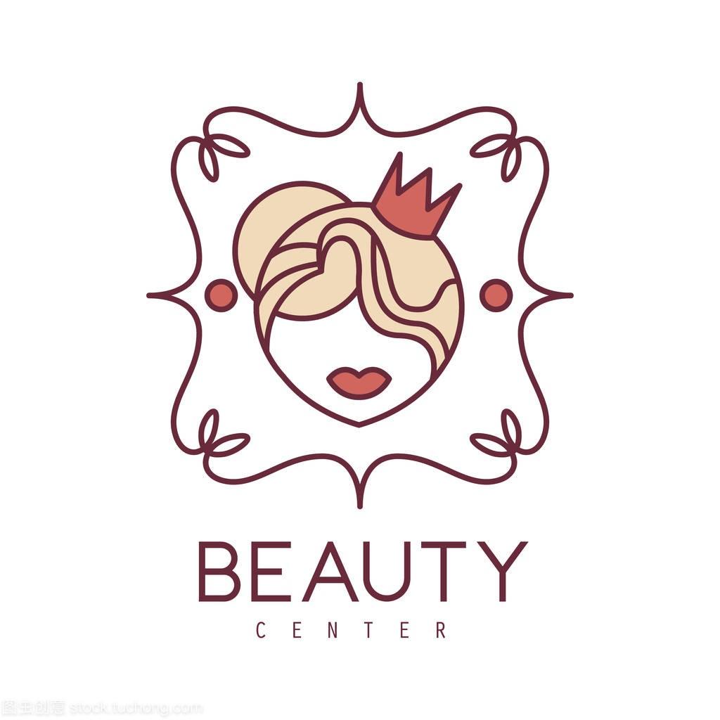 绘制标志绘制冠菜单卡通中语言头花卉易框架好看的女人概述图片