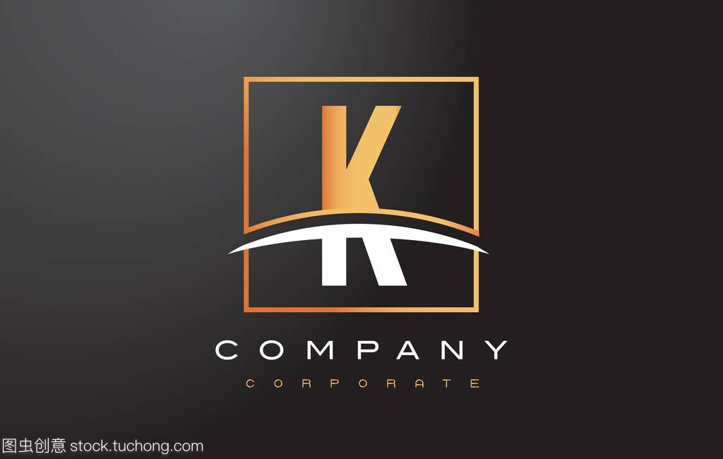 K金黄金标志设计与旋风字母和广场房屋设计带施工组织设计图片