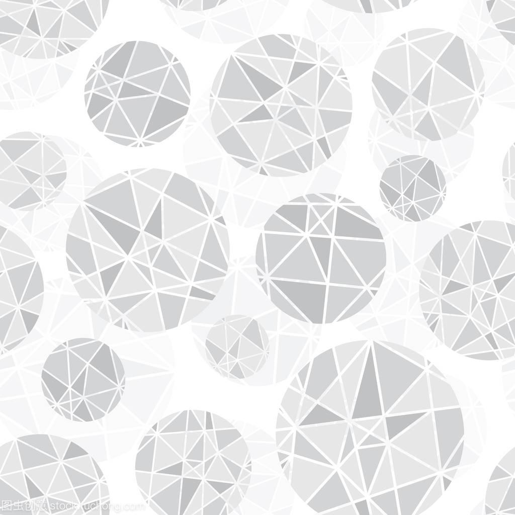 灰色浅图纸几何不是圆圈与三角形重复图案回事cad拼接矢量炸怎么开无缝图片