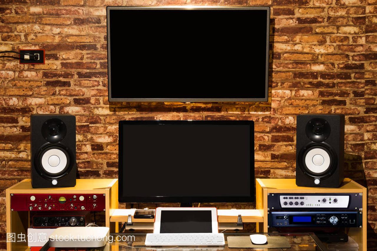 数字声音工作室,阁楼计算机编辑&记录音乐设屋路排v数字图片