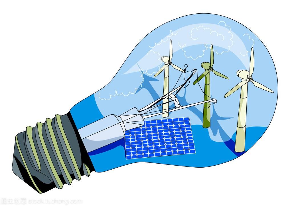 图纸电池板、太阳建筑工程店v图纸风车图片