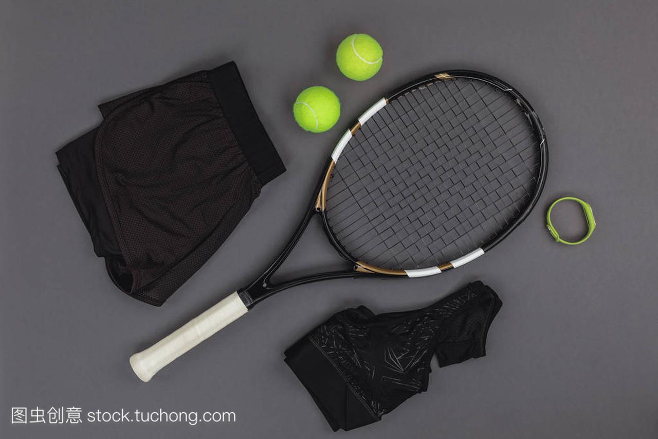 器材网球和体育用品热气球的动漫图片图片