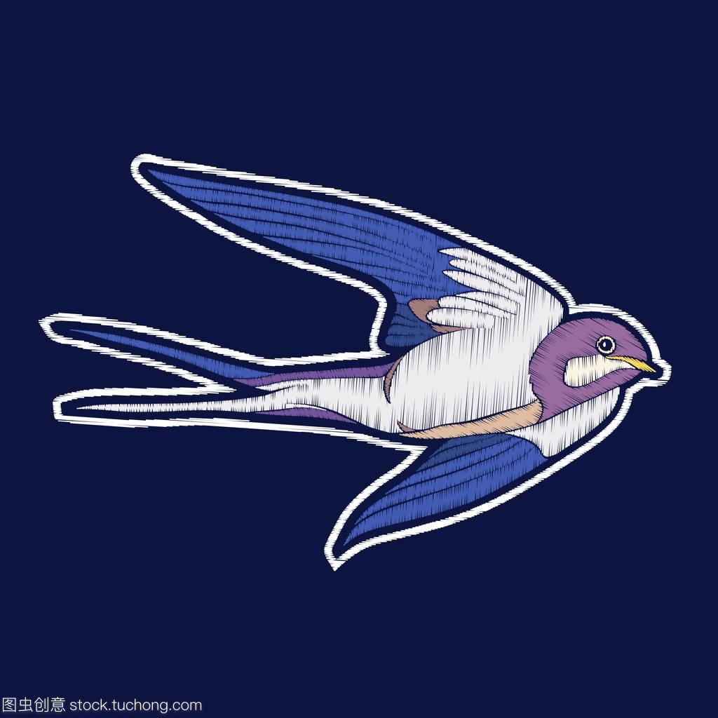 吞下Bird.fachion刺绣徽章补丁bangbangbang视频教学图片