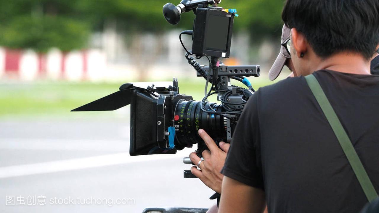 幕后的电影拍摄或视频制作风高夜黑电影在线图片