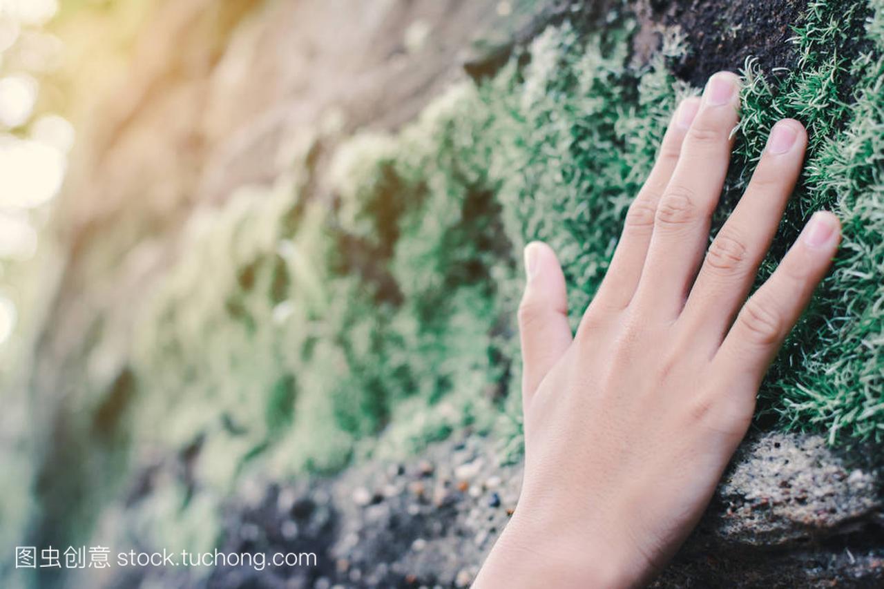 关闭了碰在女孩上的mos的女生的手石头a女孩纹身图片