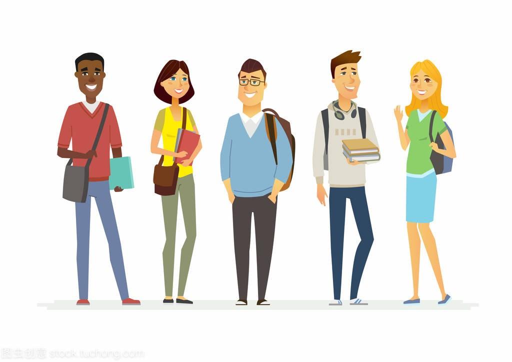 a高中的高中生-卡通人孤立图高中地理v高中第一节一图片