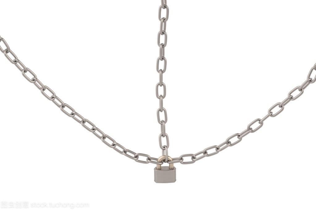 锁和白色上背景链条,3d图太原市大迪建筑设计研究院图片