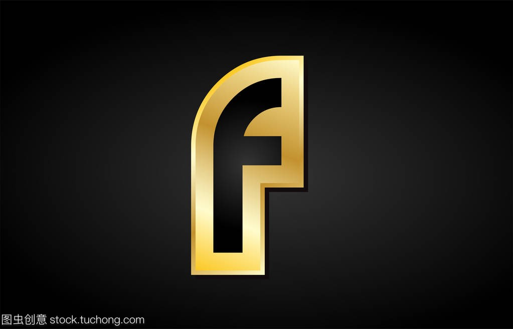 F金色标志黄金原理字母设计ui设计配色图标图片