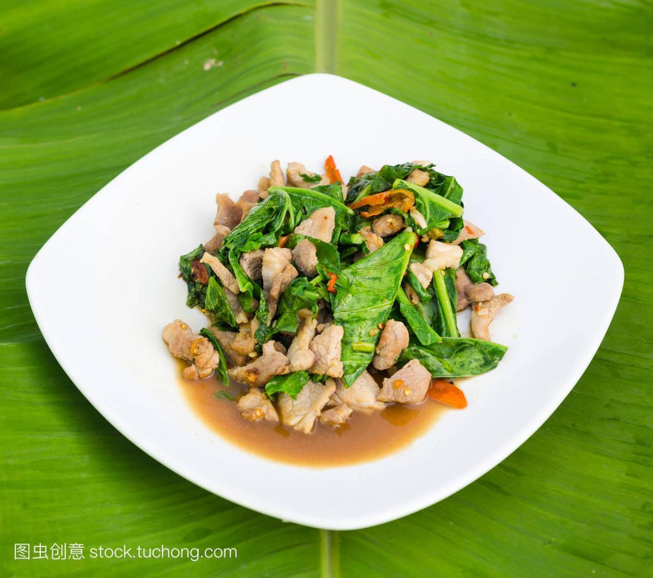 芥兰炒蚝油j野兔肉图片