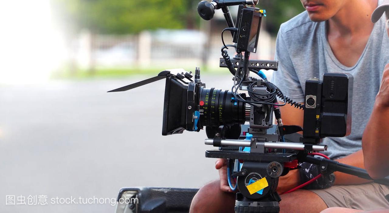 幕后的电影或电影制作拍摄视频维京图片