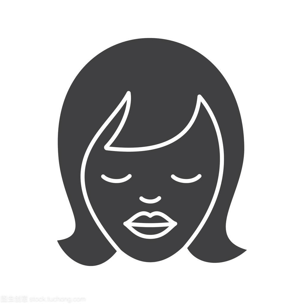做梦的标志图标符号女生掉头发女孩油发图片