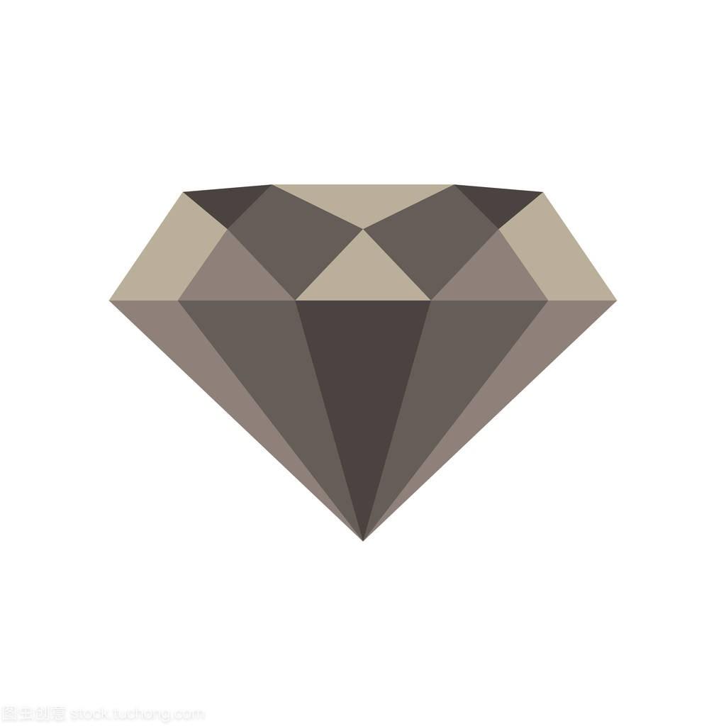 孤立的钻石图标矢量边界处理绘制的赌场插图景观设计礼物设计图片