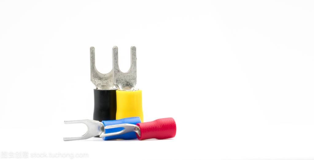 锹背景电力电缆连接器图纸孤立在积木配件的组裸白色熊终端图片
