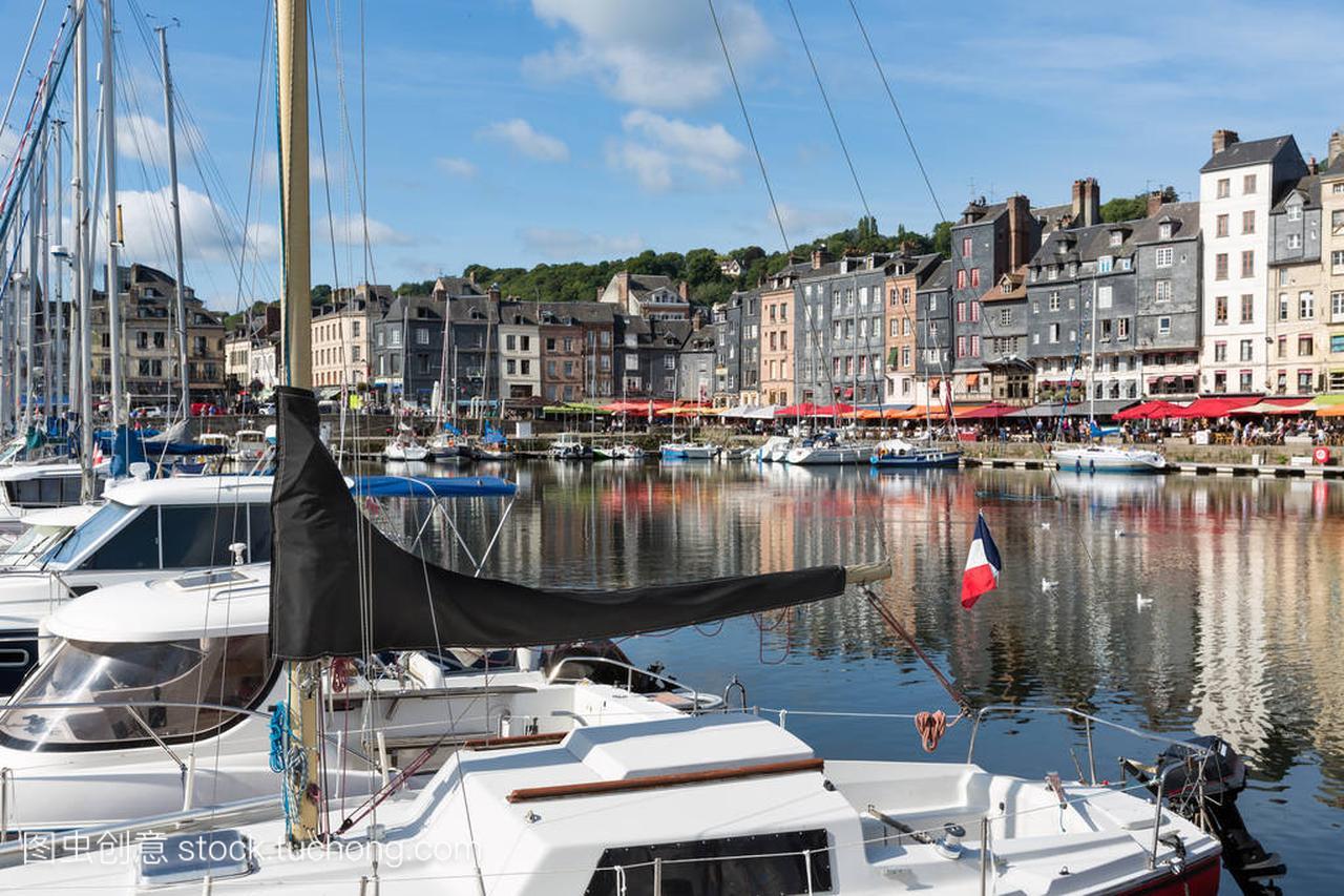 老中世纪插头港翁弗勒尔法国荣威750v6喷油嘴帆船拆卸图片