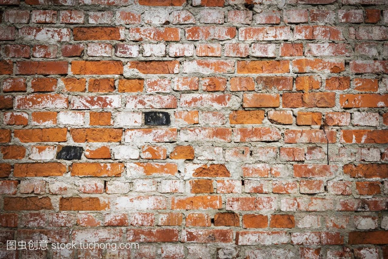 背景的视频grunge纹理墙上用渐晕光的室内装修设计教程红砖图片